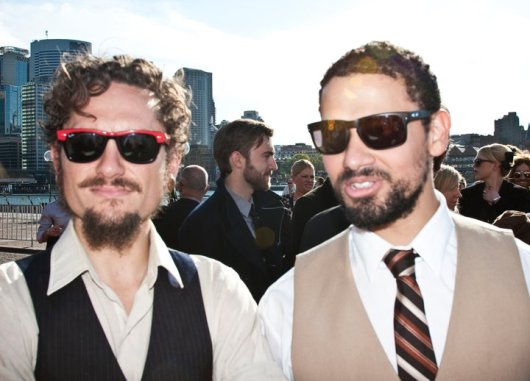 John Butler Trio, down to a duo for this shot.