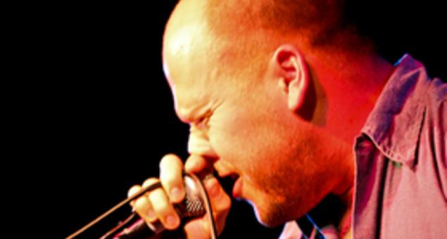 Matt Caughthran, lead singer of The Bronx.