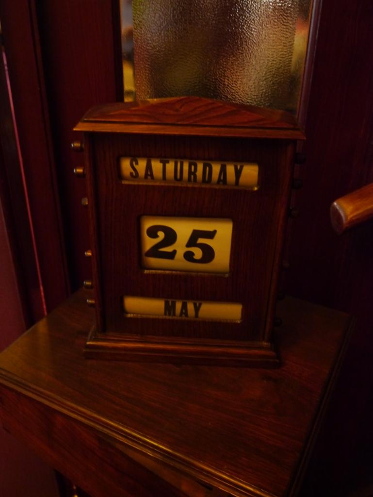 Antique wooden calendar.