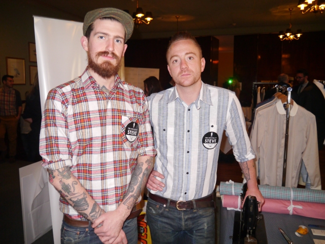 The lads from Phillips Shirts. Captains of Industry tailor, Thom Grogan (right).