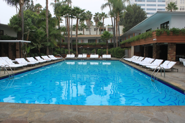 Hotel Roosevelt mosaic pool and Cabana suites.