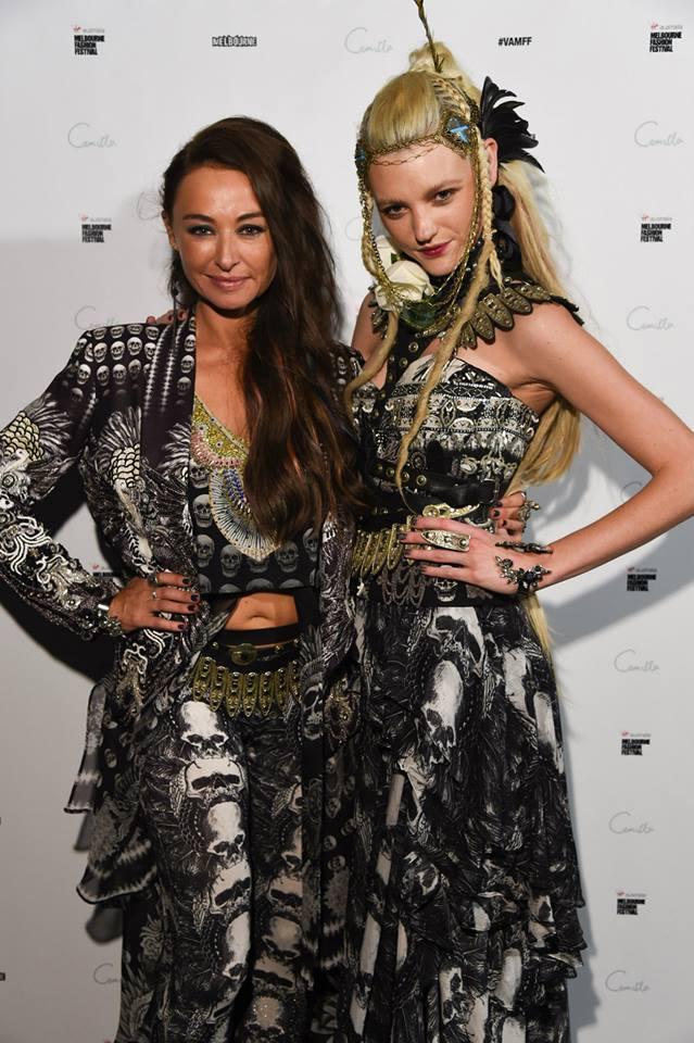 Designer Camilla Franks with supermodel Montana Cox.