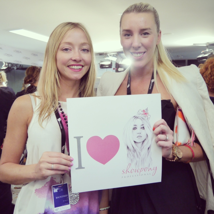 Lara Antonelli with Director of Showpony Hair Extensions Stephanie Mason.