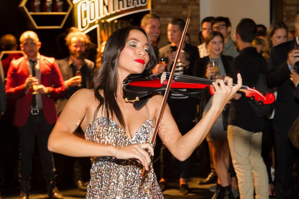Violinist, Sally Cooper.