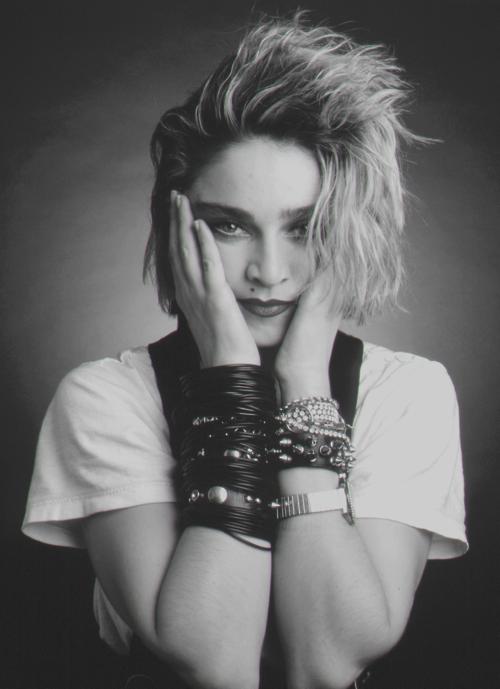 Madonna shot by Deborah Feingold.