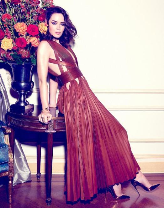 Actress Emily Blunt shot by Yu Tsai for Rhapsody magazine. Hair by Italo Gregorio.