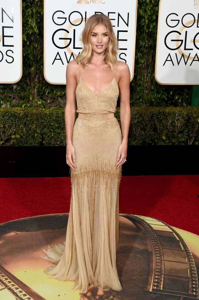 Rosie Huntington Whitely in Saint Laurent.