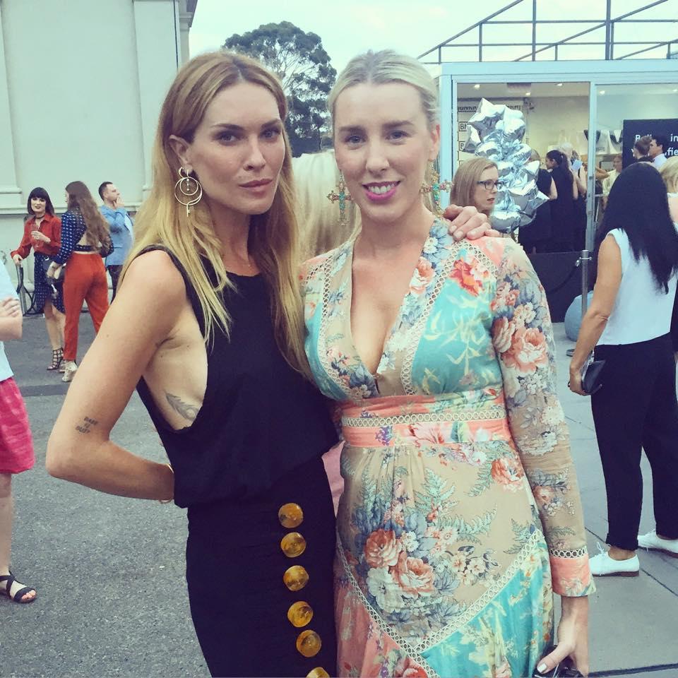 With supermodel, Erin Wasson.