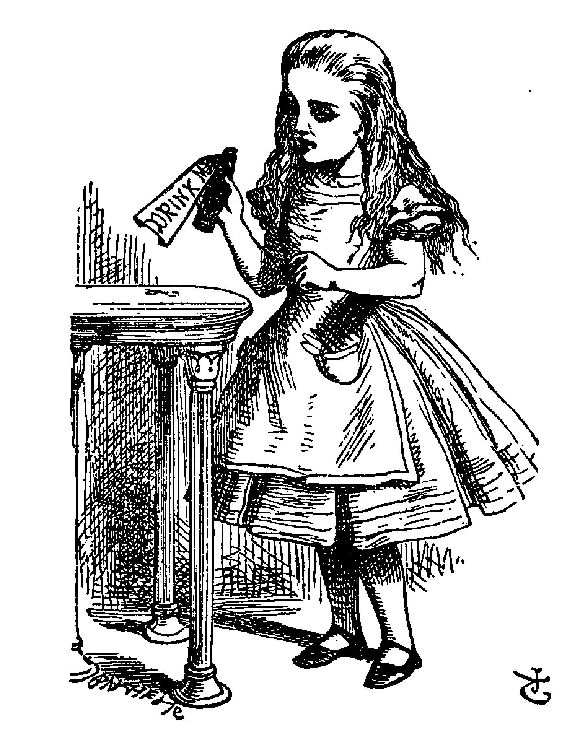 Illustration by John Tenniel_1870-1_Drink me